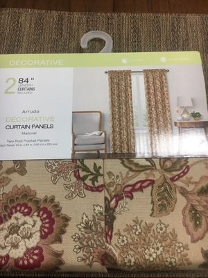 Set of 2 curtain panels for Sale in Rancho Cucamonga, CA