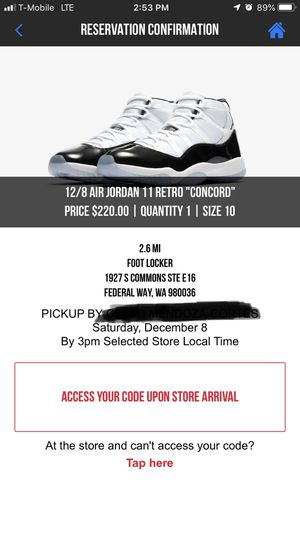 """sports shoes 45fc5 84b27 Air jordan retro """" concord """". 11 for Sale in Federal Way, WA"""