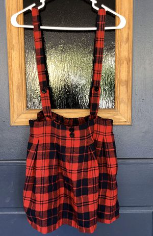Plaid overall dress size small for Sale in Fullerton, CA