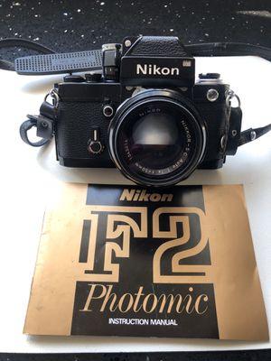 Vintage Nikon F-2 Film Camera, Lenses and accessories for Sale in Farmington Hills, MI