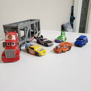 Disney, Cars, Mack Truck With 5 Cars for Sale in Pompano Beach, FL