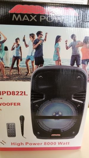 Bluetooth speaker with mic led display for Sale in Humble, TX