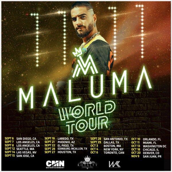 2 Concert Tickets for Maluma
