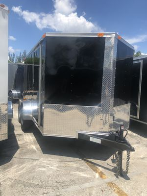Enclosed Cargo Trailer V-Nose 7-12 Dual Axle for Sale in Pembroke Pines, FL