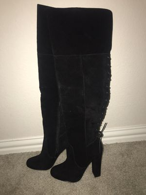 Black Thigh High Boots for Sale in Dallas, TX