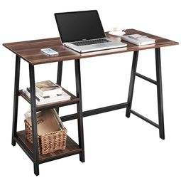 43 Inch Wood Computer Desk With Shelves Modern Desk for Sale in Miami, FL