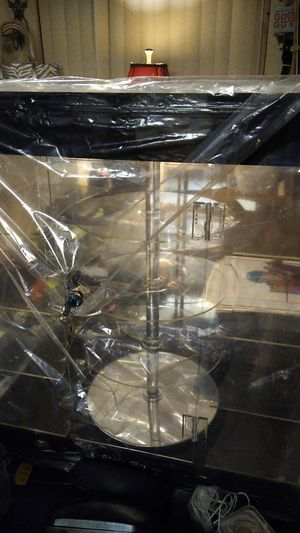 4 level counter display case with revolving and light tiers for Sale in Las Vegas, NV