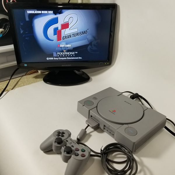 Sony PlayStation 1 Dual Shock SCPH-7501 Console Bundle w/Box, NEW Carrying Case, Games & More