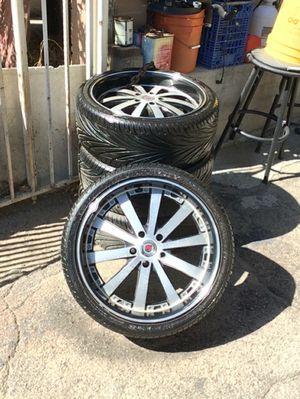 20 inch rims and tires for Sale in Los Angeles, CA