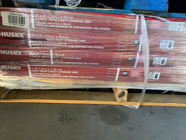 Husky 78 in. H x 48 in. W x 24 in. D 5 Shelf Steel Unit