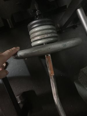 EZ curl bar with 1inch weight 80lbs for Sale in Modesto, CA