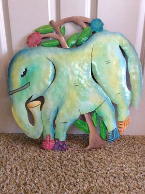 Elephant Steel Drum Painted Art Wall Hanging for Sale in Naples, FL