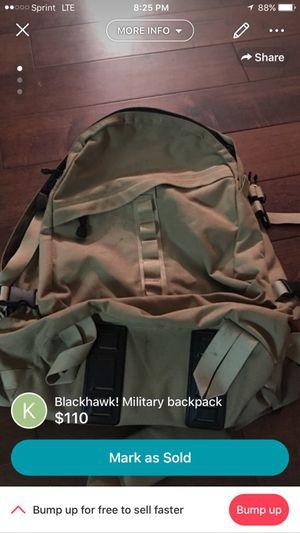 Blackhawk military backpack for Sale in Clovis, CA