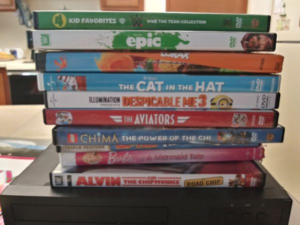 Children's DVDs with player