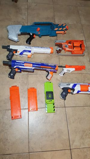 Nerf Gun Elite Lot - Retaliator Rampage N-strike Flipfury Strongarm for Sale in Houston, TX