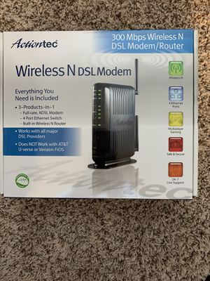 Actiontec GT784WN-01 wireless N DSL Modem/Router for Sale in Town and Country, MO