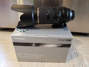 Tamron 70-200 f/2.8 DS VC lens for Nikon for Sale in Spout Spring, VA