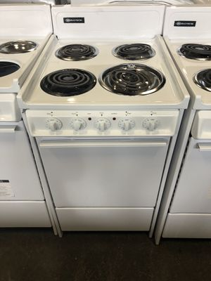 "20"" BROWN ELECTRIC COIL TOP STOVE WITH WARRANTY for Sale in Woodbridge, VA"