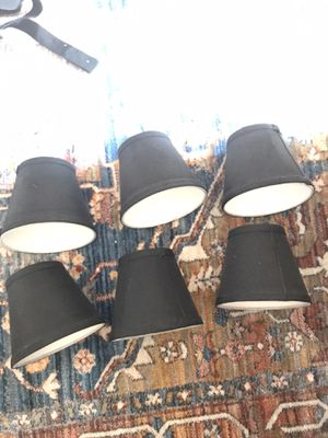 6 black chandelier shades for Sale in Silver Spring, MD
