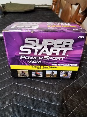 Brand New 12volt super start battery for Atv,motorcycle,personal watercraft,and snowmobiles for Sale in Burien, WA