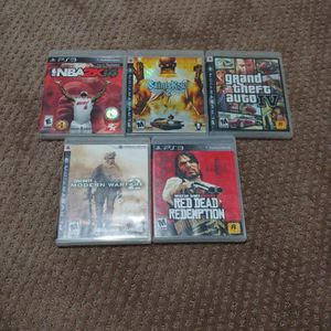 5 Ps3 Games For 20$ for Sale in Tacoma, WA