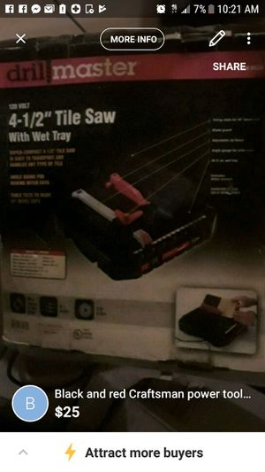 Tile saw for Sale in Baltimore, MD