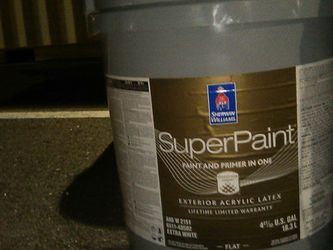 Sherman Weilliams Super Paint White 5 Gallon for Sale in Jacksonville,  FL