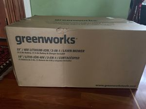 Green works cordless lawnmower w/battery for Sale in West Linn, OR