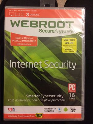 Webroot Internet Security NEW for Sale in Alexandria, VA