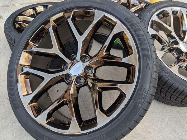 Chevy Silverado Tahoe Suburban Wheels Tires P305 35R24 Rims 305 35 24