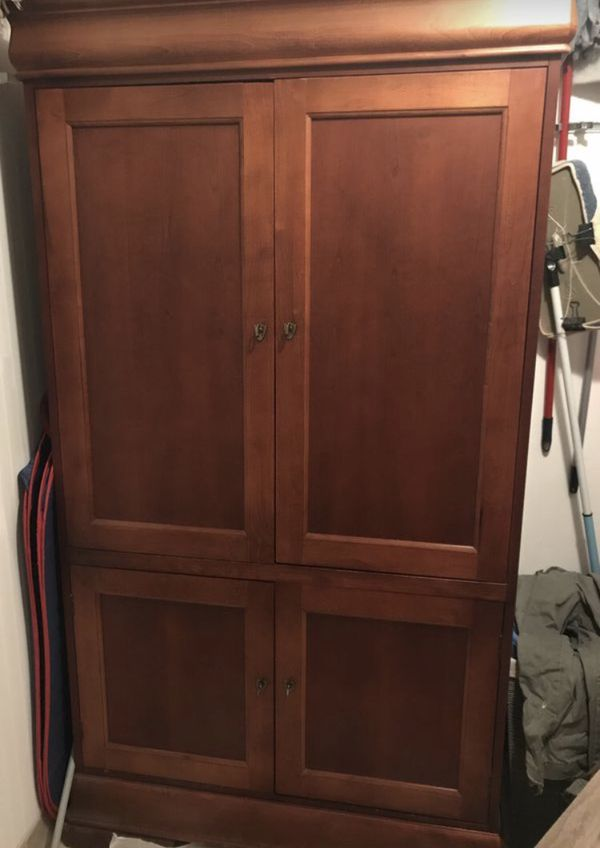 Cherry Wood Cabinet (must find a new home today)