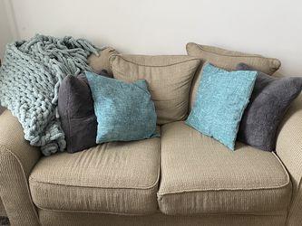 Beige Medium Couch for Sale in Philadelphia,  PA