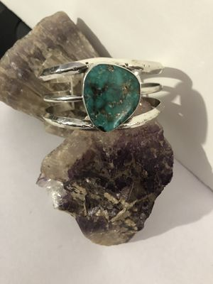 Handcrafted Turquoise 3 Wire .925 Sterling Silver Cuff Bracelet 43g New for Sale in Phoenix, AZ