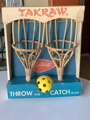 New Vintage lawn and yard game. Toy. Ball toss. TAKRAW. for Sale in Avondale, AZ