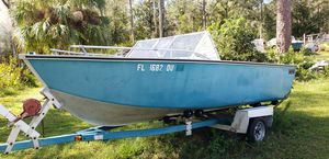 Aluminum boat with trailer no title for Sale in Zephyrhills, FL