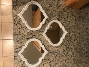 3 decorative white mirrors for Sale in Upper Marlboro, MD