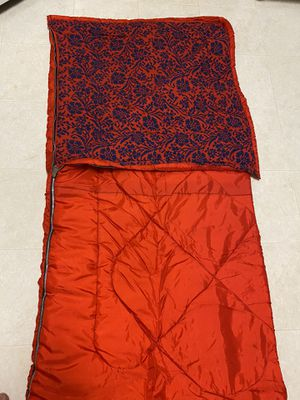 Vintage 70's Coleman red with blue floral interior sleeping bag for Sale in Temple, GA