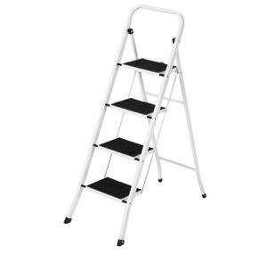 Folding Steel 4-Step Ladder w/ Hand Rail, Wide Steps, 300lbs Capacity for Sale in Cleveland, OH