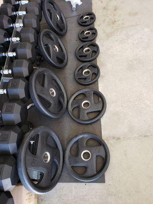 Weights- Encased grip plate set for Sale in Lathrop, CA