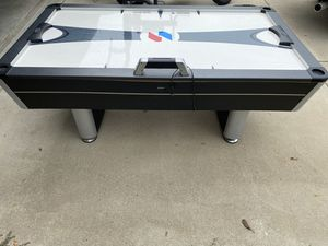 Air hockey table and ping pong topper w/ other accessories for Sale in Arlington, TX