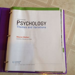 Psychology themes and variations Wayne Weiten Tenth Edition for Sale in North Las Vegas, NV
