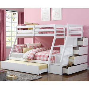 Twin/Full Bunk Bed w/Storage Ladder for Sale in Hialeah, FL