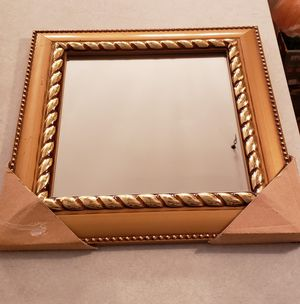 Gold framed 14x14 wall mount mirror for Sale in St. Louis, MO
