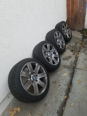 Bmw e46 tires factory trims Michelin tires and a spare for Sale in ROWLAND HGHTS, CA