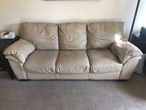 Couch- 3 seats- leather for Sale in Tempe, AZ