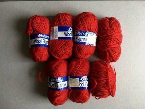 Lot of 7 Darlaine Wool Flame 100% wool yarn. for Sale in Steilacoom, WA