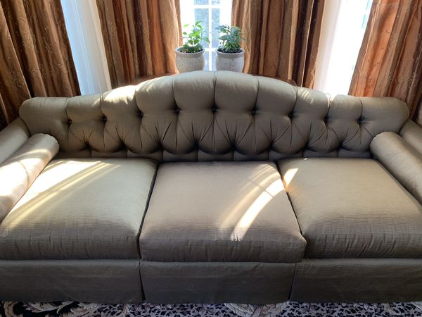 "Baker Tufted Sofa - 93"" wide x 33"" depth x 34"" high $1700"