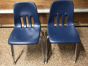 Two Blue School Kids Desk Chairs for Sale in Costa Mesa, CA