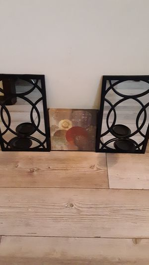 Candle holder and wall art for Sale in North Ridgeville, OH
