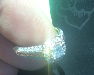 Size 5 Diamond Wedding Ring White & Rose Gold 14k for Sale in Raleigh, NC